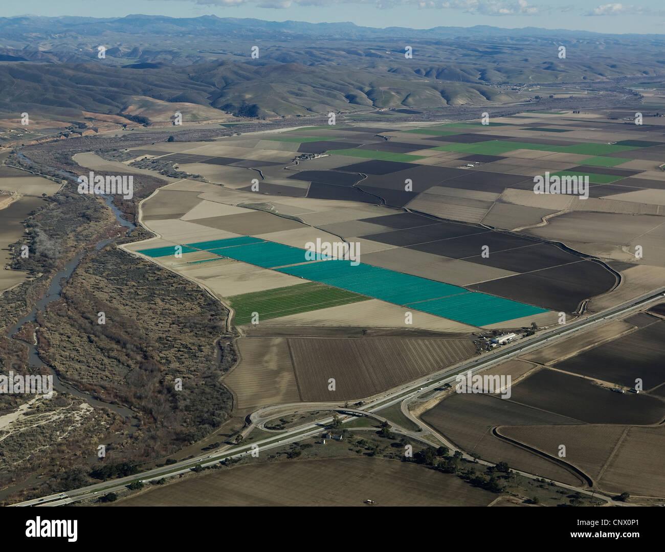 aerial photograph Salinas Valley - Stock Image