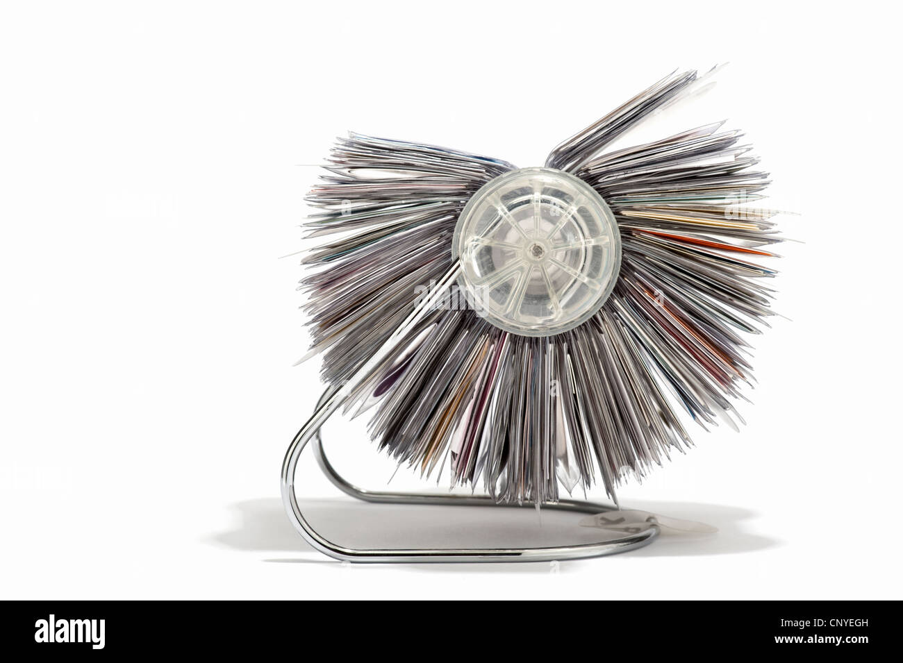 A rotary business card holder side view stock photo 47932657 alamy a rotary business card holder side view reheart Choice Image