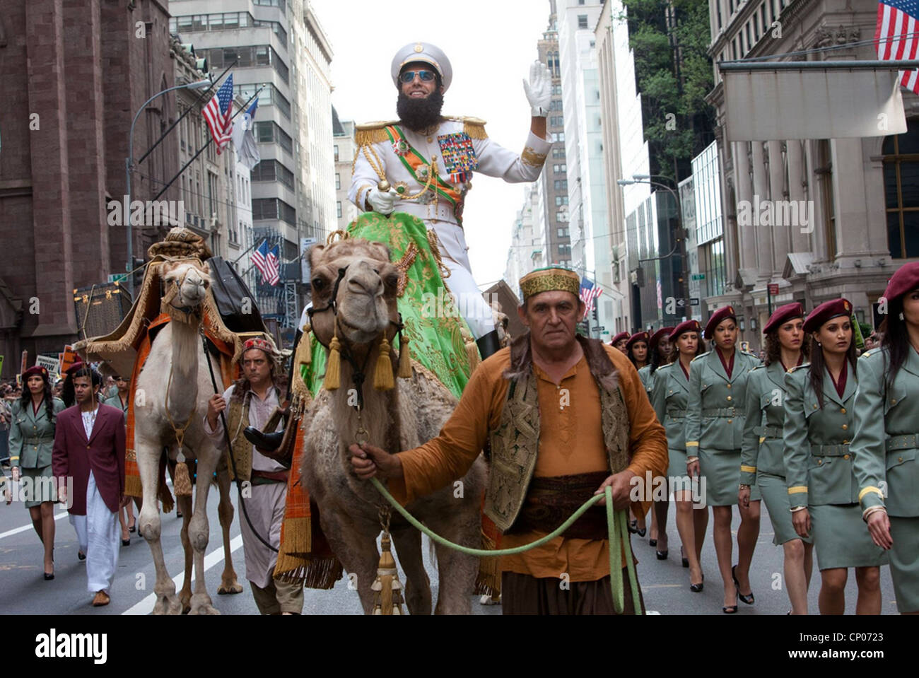 THE DICTATOR 2012 Paramount film with Sacha Baron Cohen - Stock Image