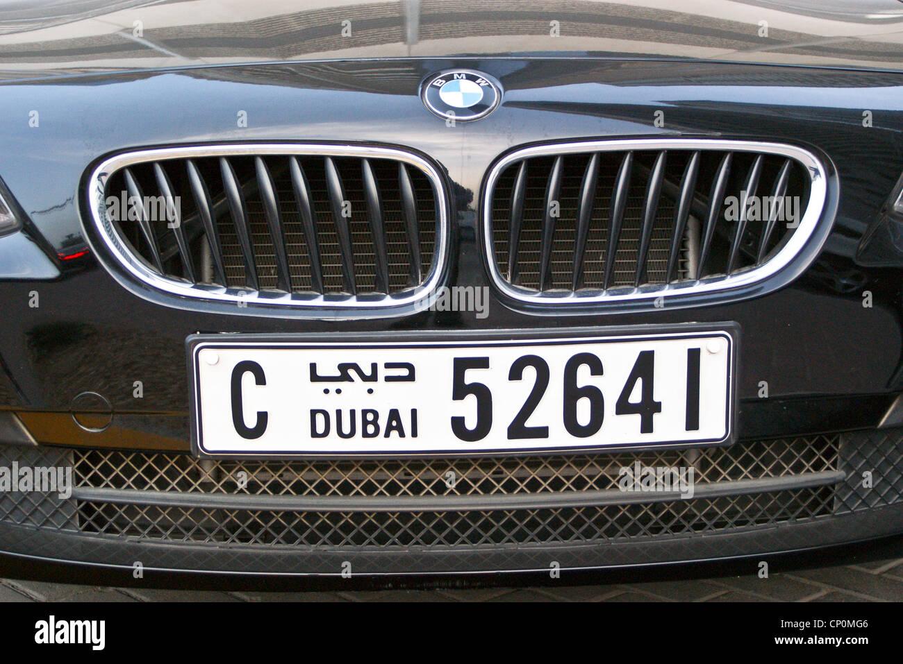 a-bmw-with-dubai-number-plates-dubai-united-arab-emirates-CP0MG6.jpg