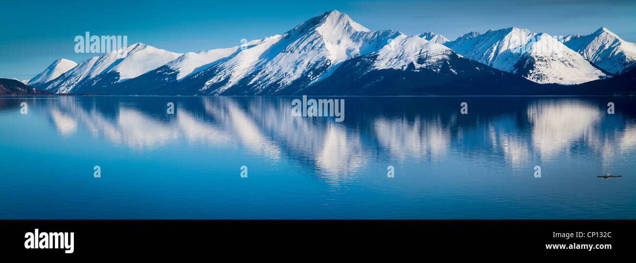 Mountains along the Turnagain Arm near Anchorage, Alaska. - Stock Image