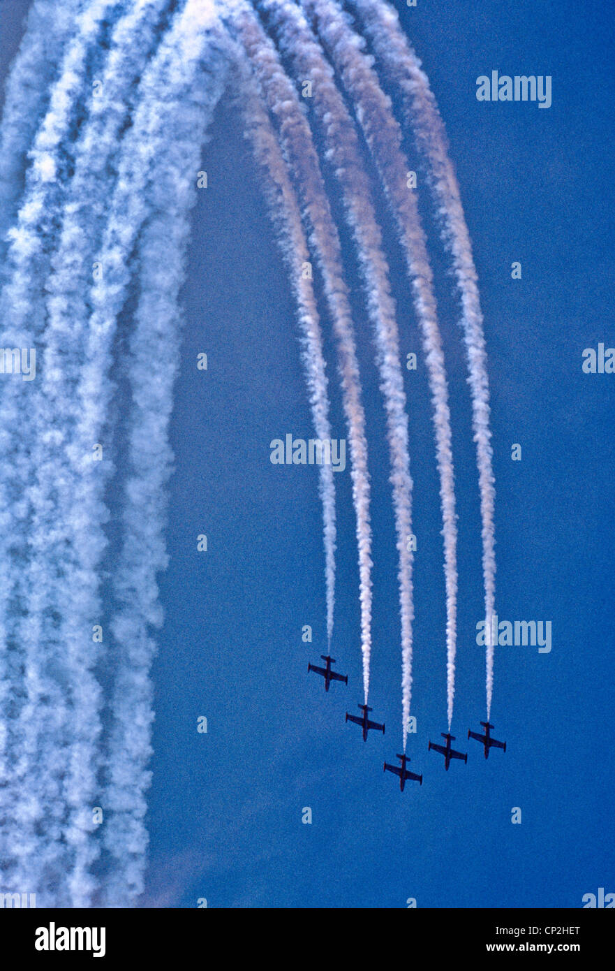Royal Australian Air Force RAAF Aerobatic Team, Victoria Australia - Stock Image