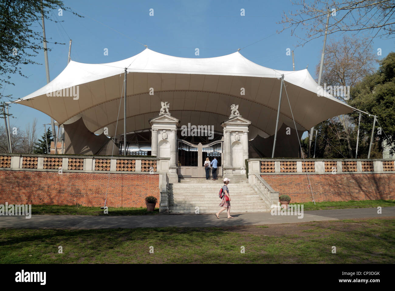 The open air Holland Park Theatre, home of the Opera Holland Park, in Holland Park, London, UK. Stock Photo