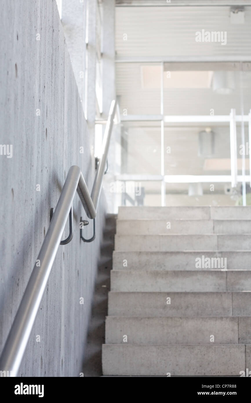 Stairs in a public transportation building - Stock Image