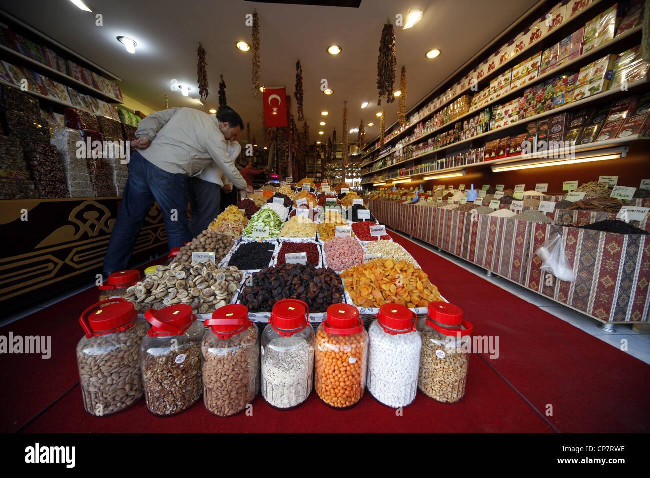 SWEET & SPICE SHOP SIDE TURKEY 15 April 2012 - Stock Image