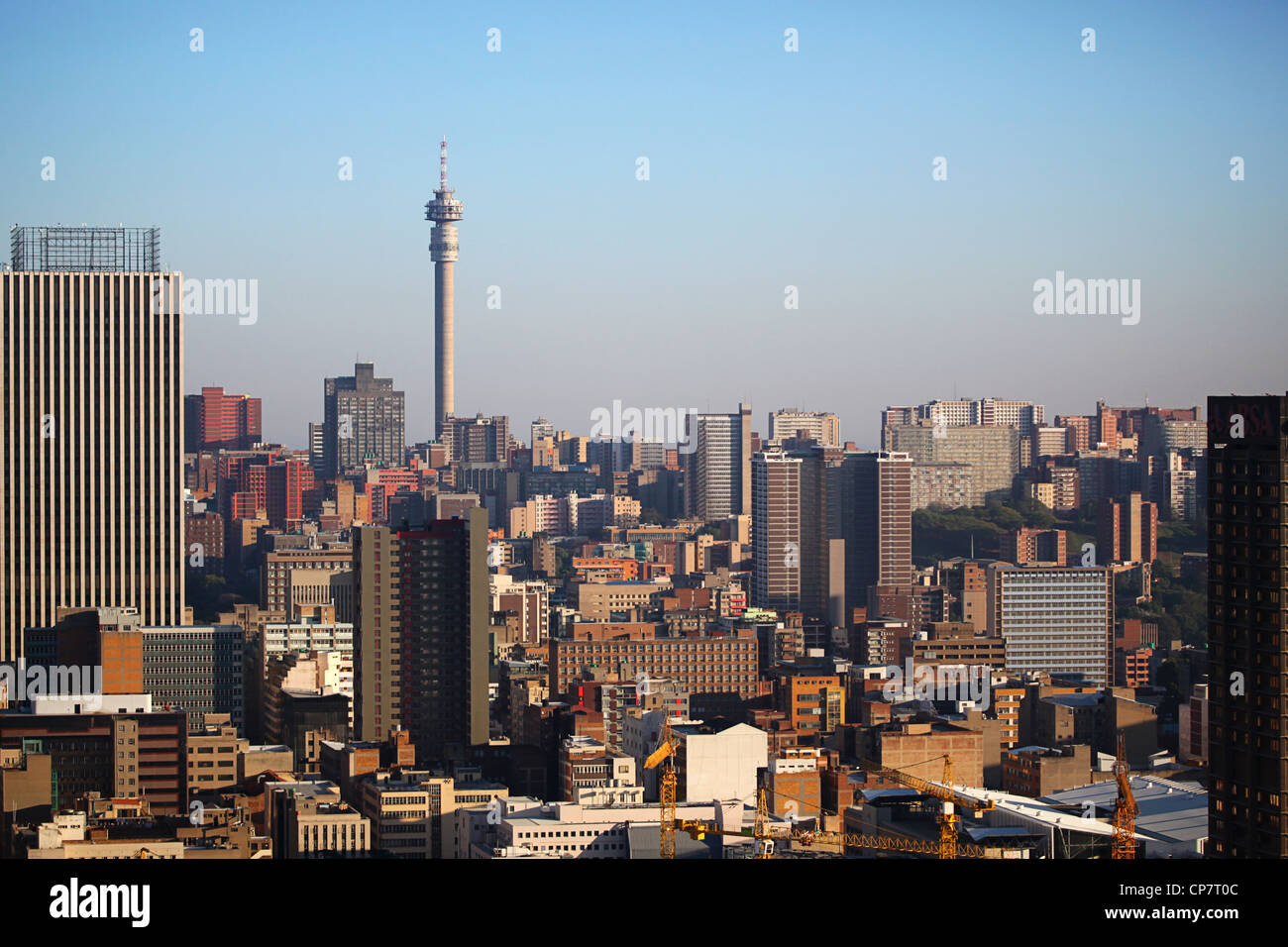 Johannesburg skyline and 'Hillbrow Tower' - Stock Image