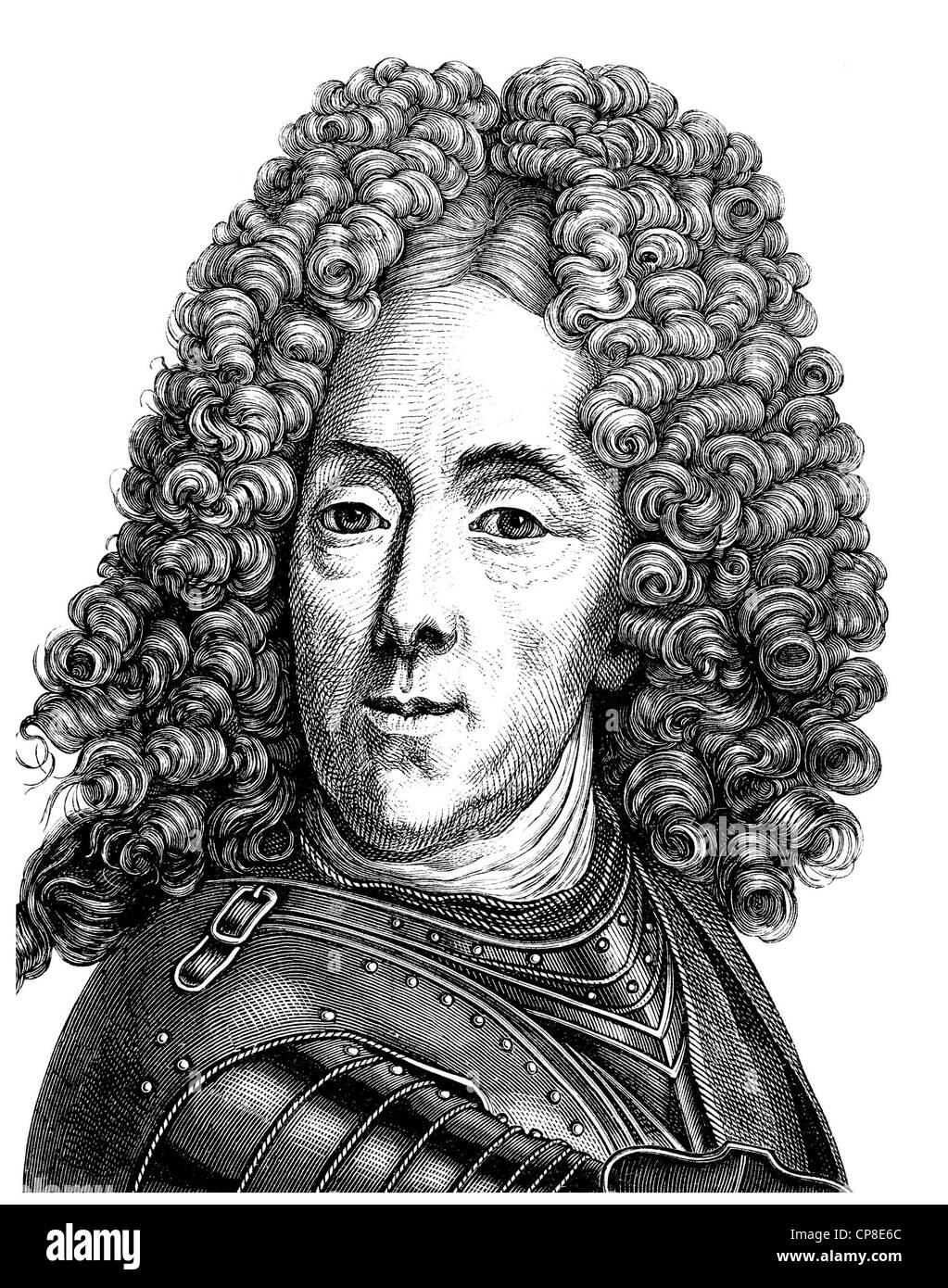 Eugene Francis, Prince of Savoy-Carignan or François-Eugène de Savoie-Carignan or Eugenio di Savoia-Carignano, - Stock Image