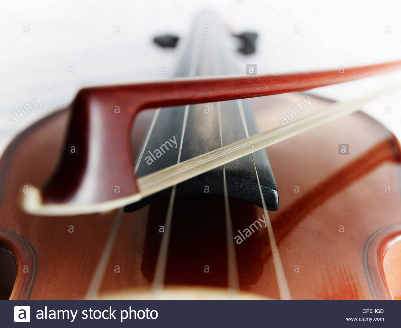 bow,color image,detail,entertainment,focus on foreground,full frame,horizontal,instrument,low angle view,music,no - Stock Image