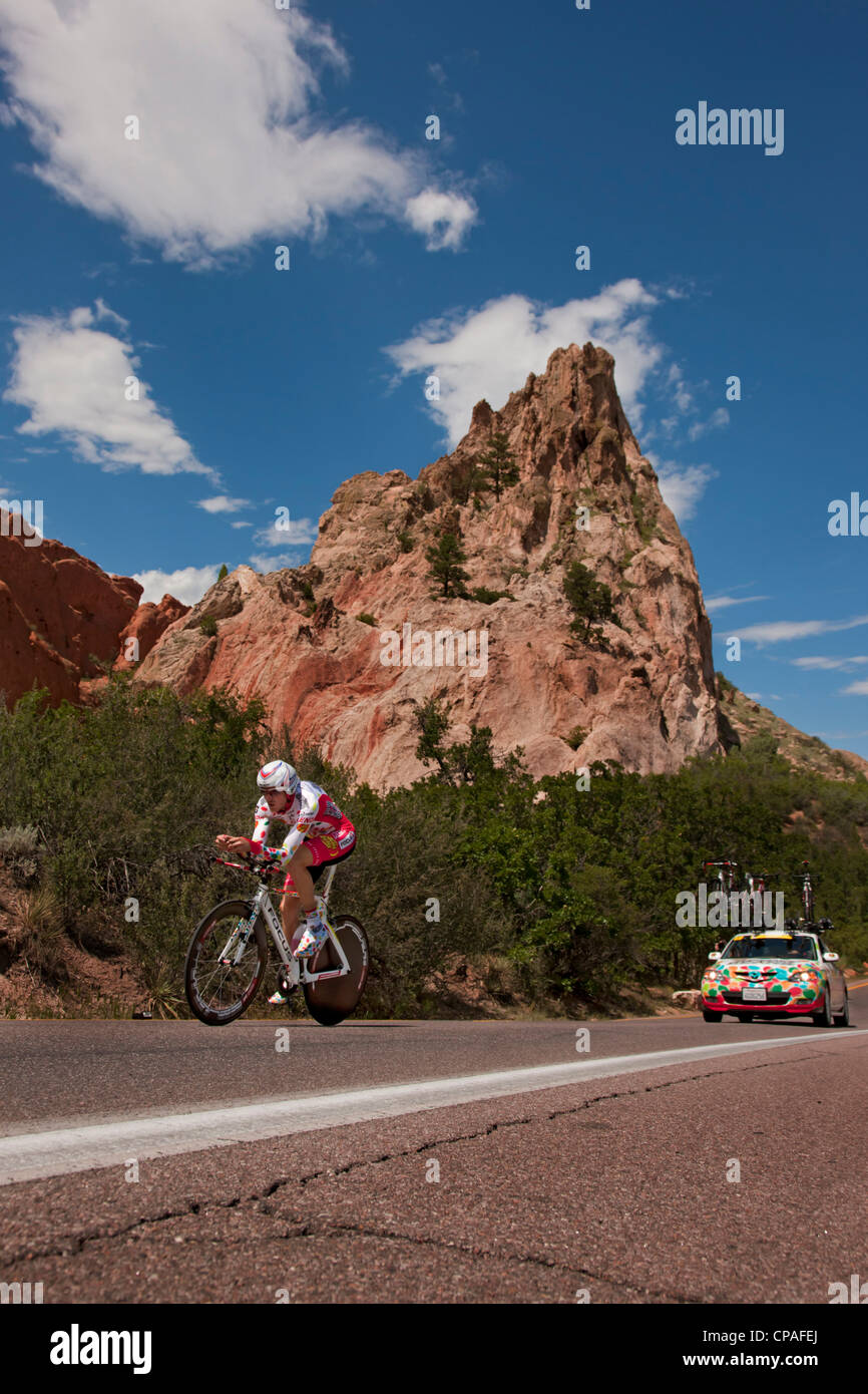 USA, Colorado, Colorado Springs. Alex Hagman of the Jelly Belly Pro Cycling Team during the 2011 USA Pro Cycling - Stock Image