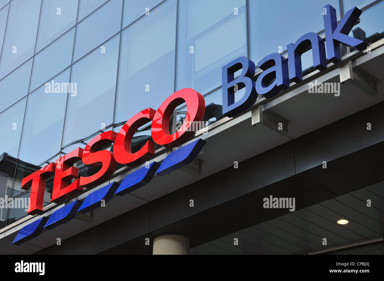 Tesco bank offices in the Cowcaddens district near the city centre in Glasgow, Scotland, UK . Stock Photo