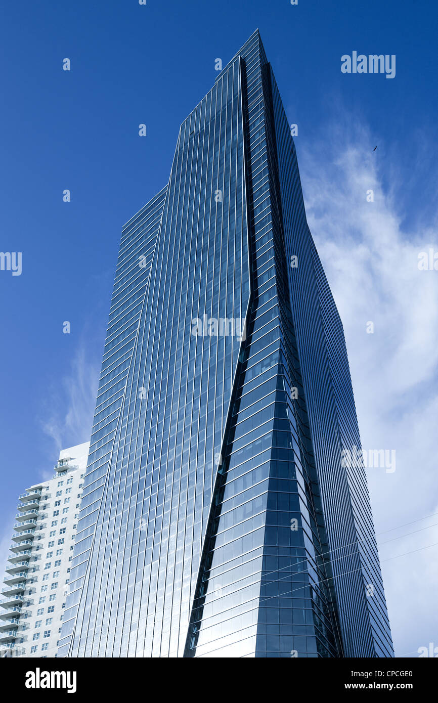 Skyscraper at Brickell district, Miami, Florida, USA - Stock Image