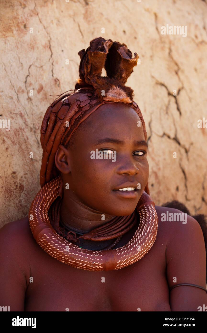 Himba woman, Skeleton Coast National Park, Namibia, Africa - Stock Image