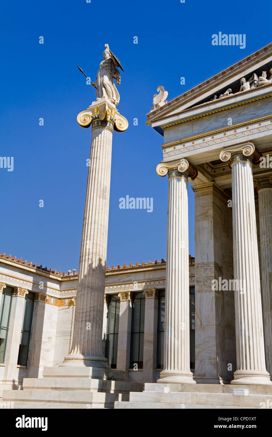 Athens Academy, Athens, Greece, Europe - Stock Image