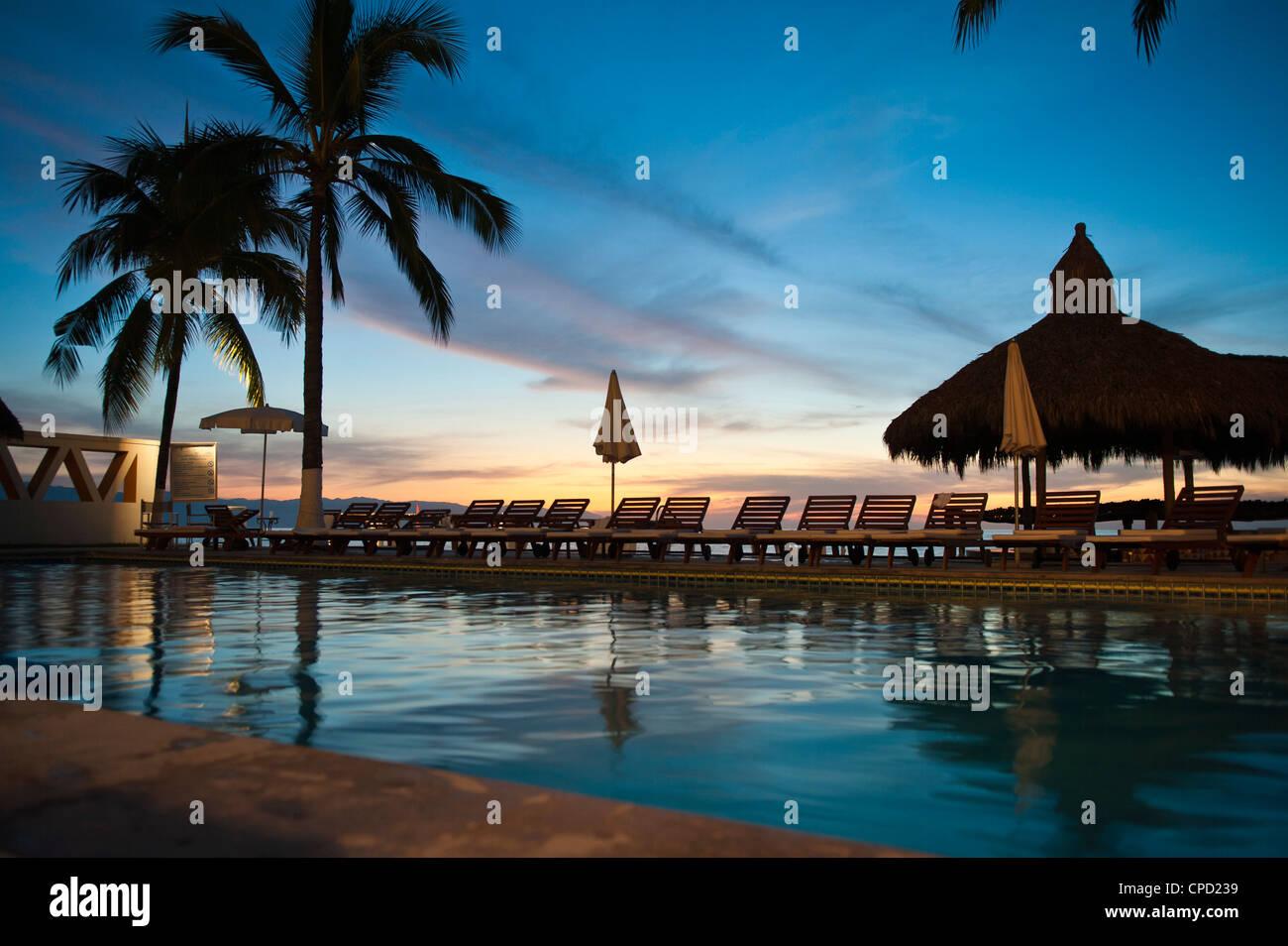 Villa Premiere Hotel and Spa, Puerto Vallarta, Jalisco, Mexico, North America - Stock Image