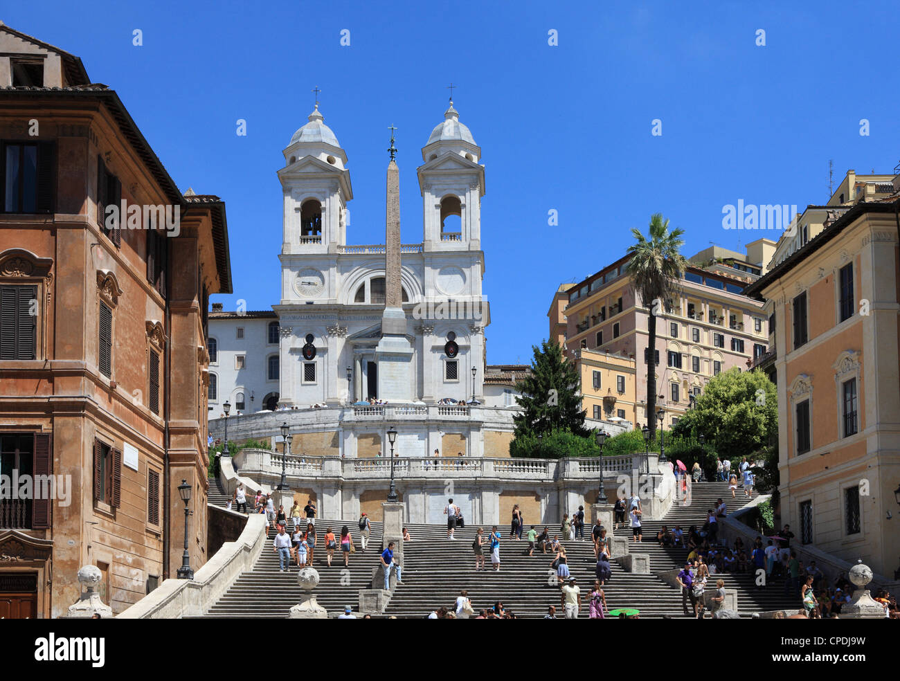 Trinita dei Monti church, Rome, Lazio, Italy, Europe - Stock Image