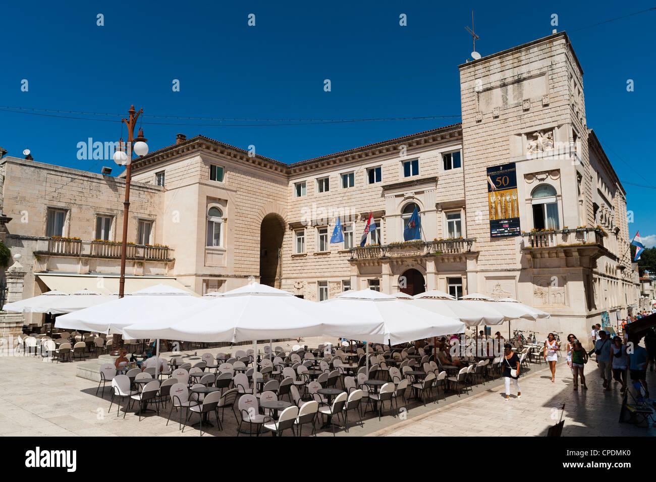 Nadbiskupski graditeljski sklop (Archbishop's architectural complex), Zadar county, Dalmatia region, Croatia, - Stock Image