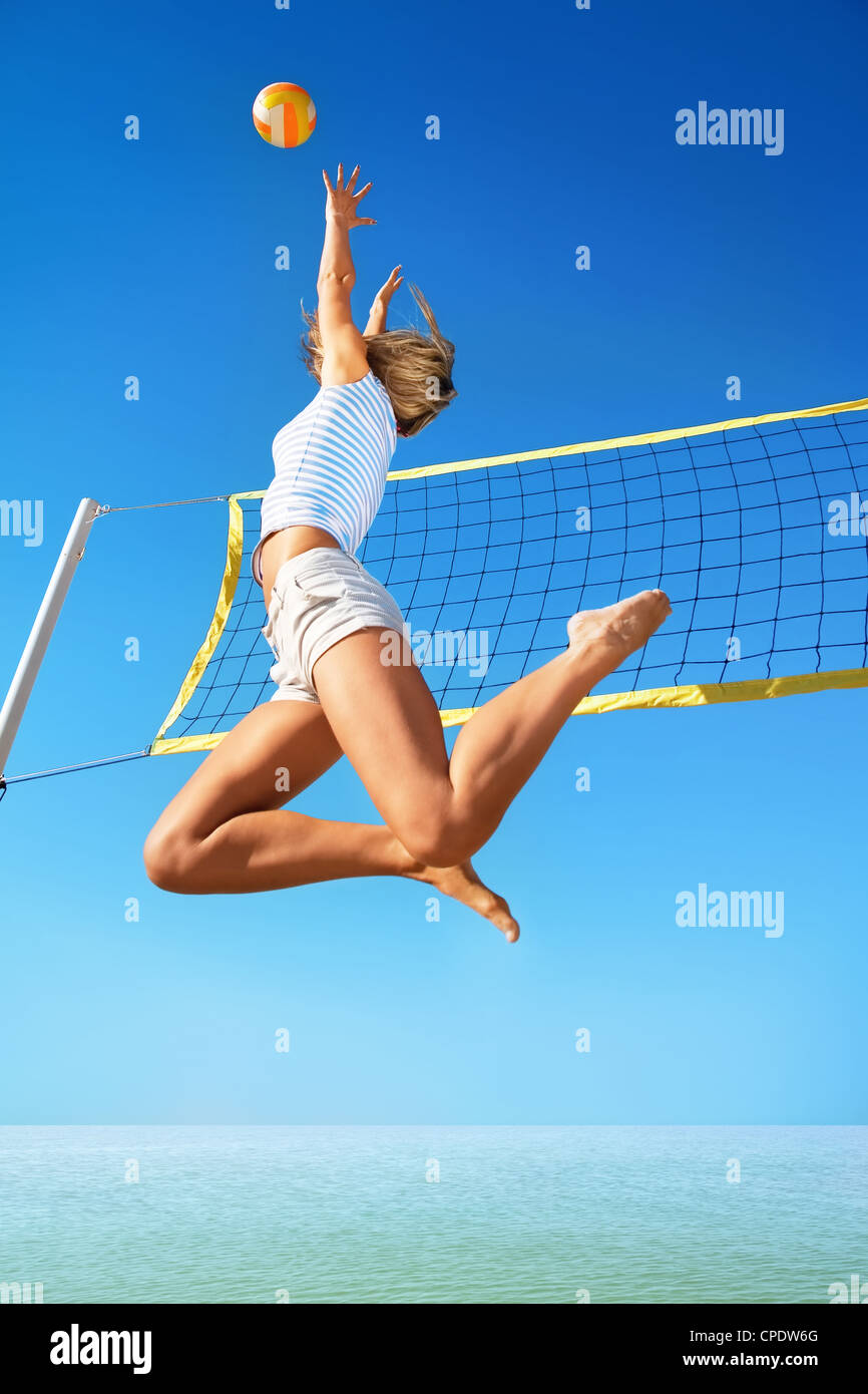 Beach volleyball - Stock Image