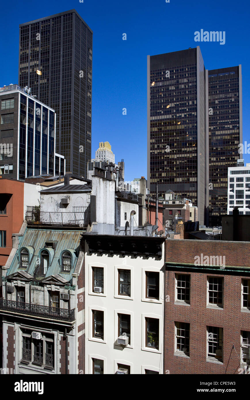 diverse architectural styles in manhattan new york city new york