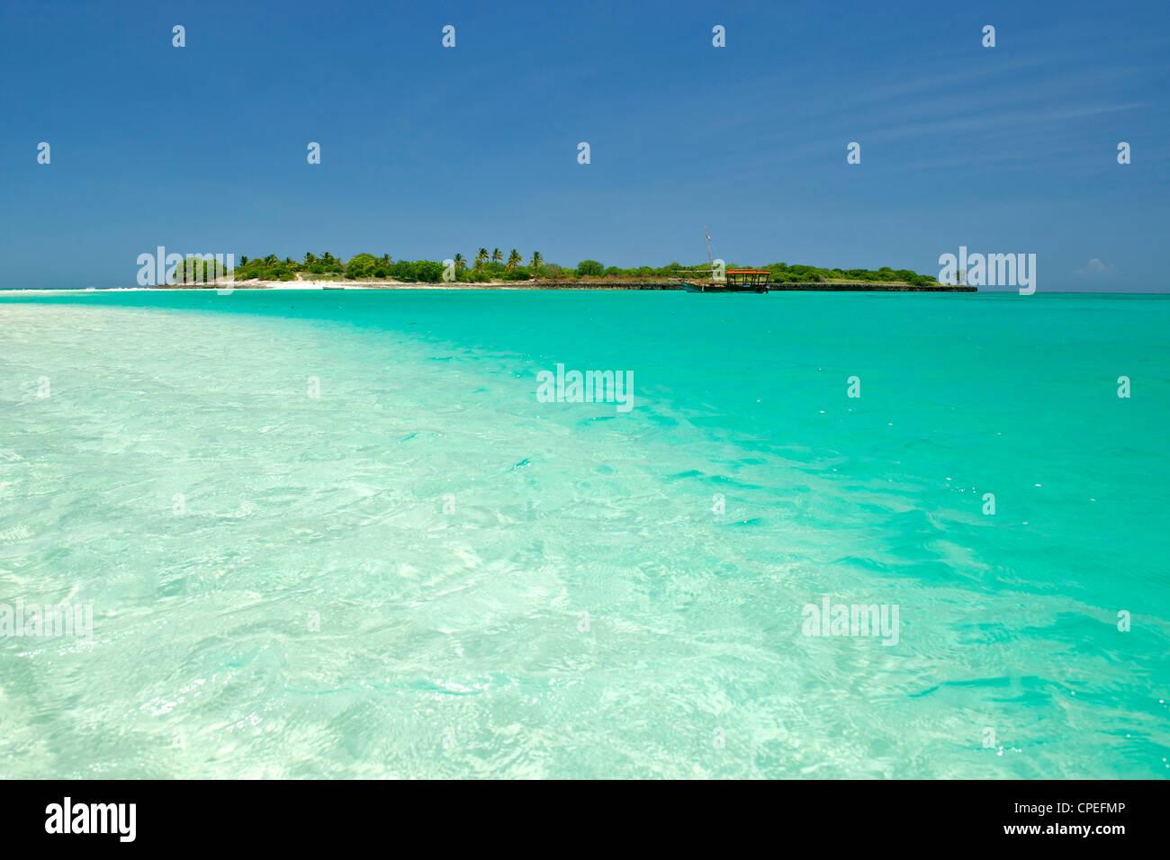 Mogundula island in the Quirimbas archipelago in northern Mozambique. - Stock Image