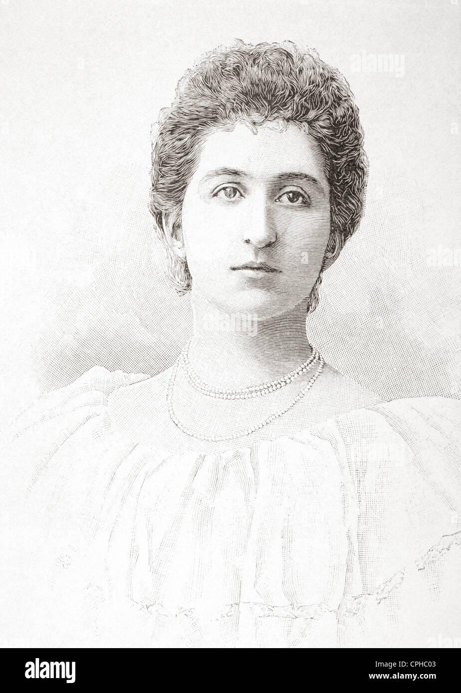 Anna Petrović-Njegoš, Princess of Montenegro, 1874 - 1971. Wife of Prince Francis Joseph of Battenberg. - Stock Image