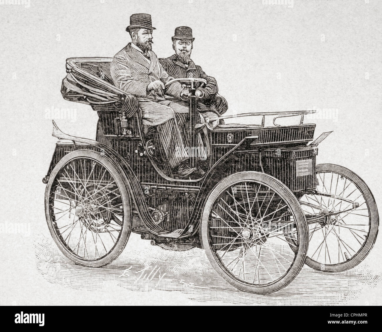 An early Rochet-Schneider motor car. From L\'Illustration published ...