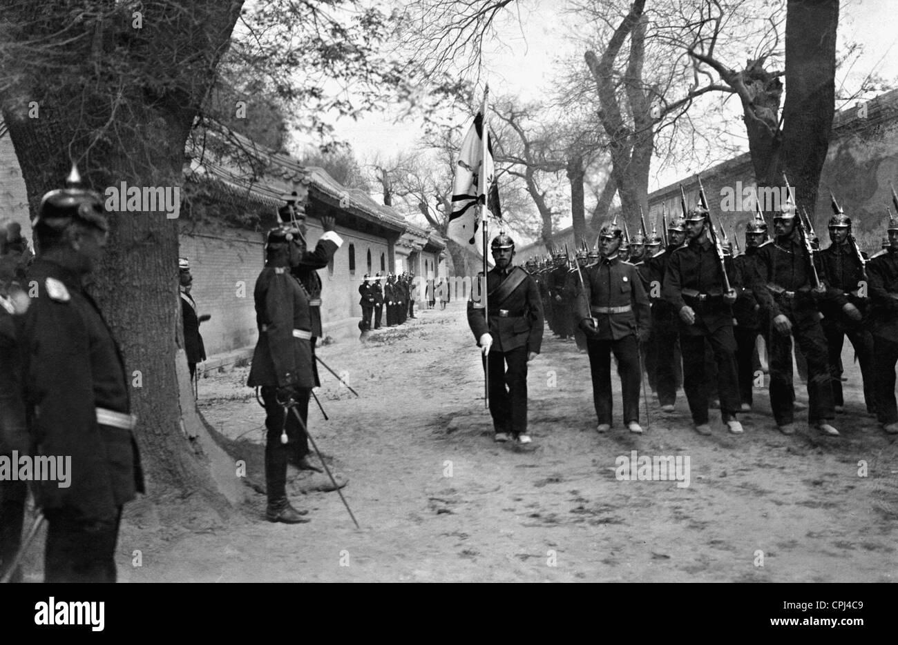Alfred Graf von Waldersee and General Lothar von Trotha, 1900/01 Stock Photo