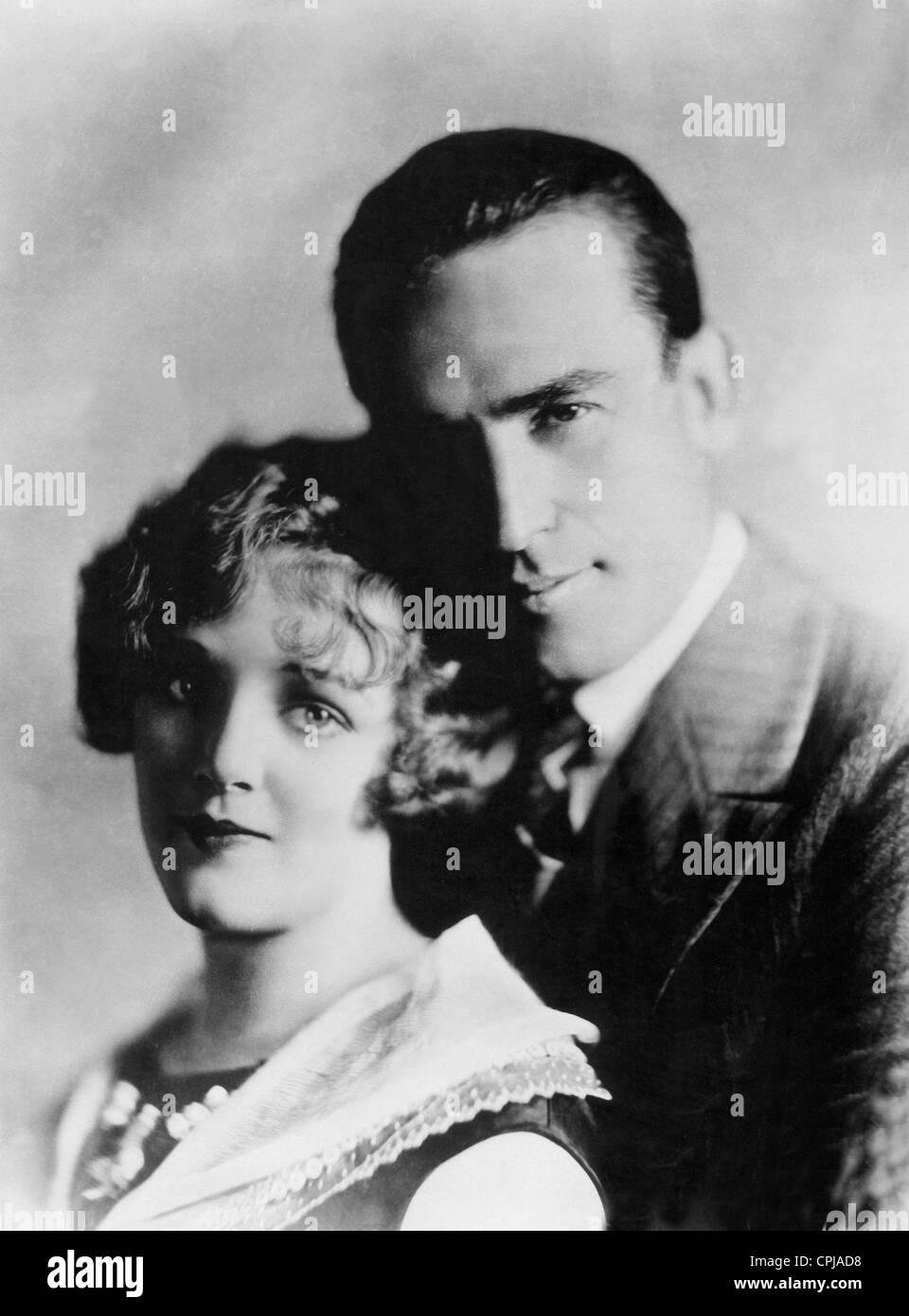 Harold Lloyd with Mildred Davis - Stock Image