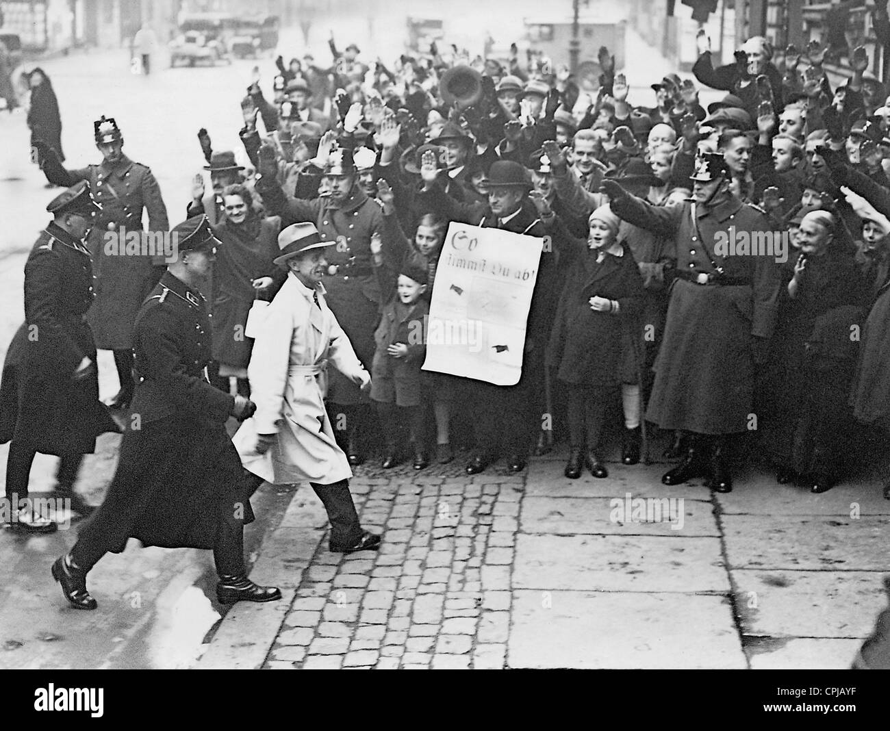 Joseph Goebbels in the Reichstag elections on 12.11.1933 - Stock Image