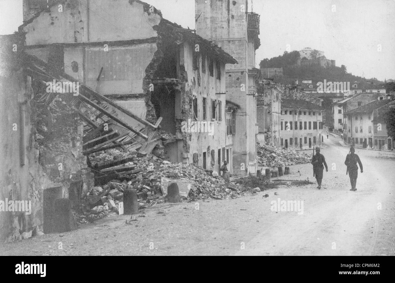 Destroyed Goerz in WWI, 1918 - Stock Image