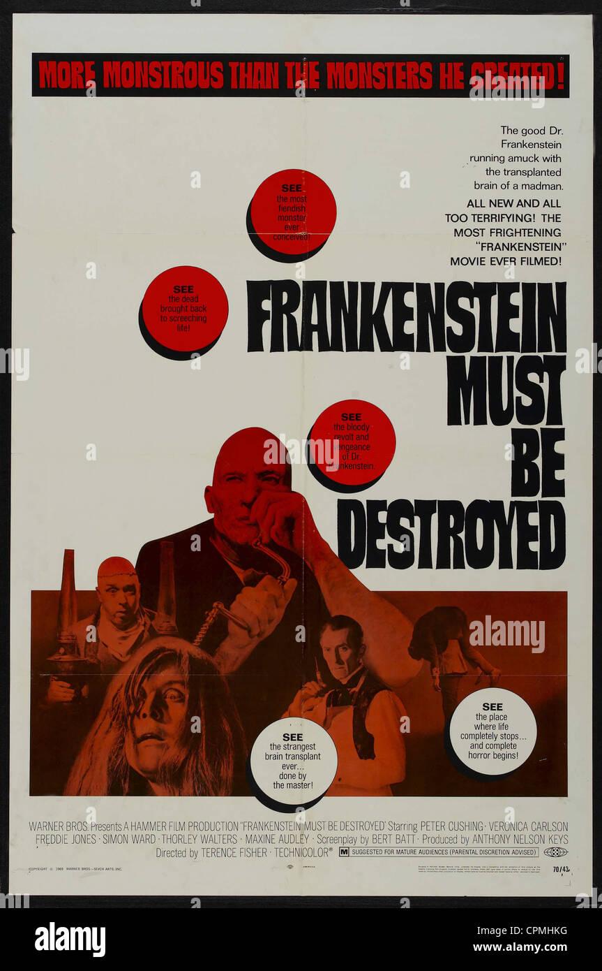 Frankenstein Must Be Destroyed - Stock Image