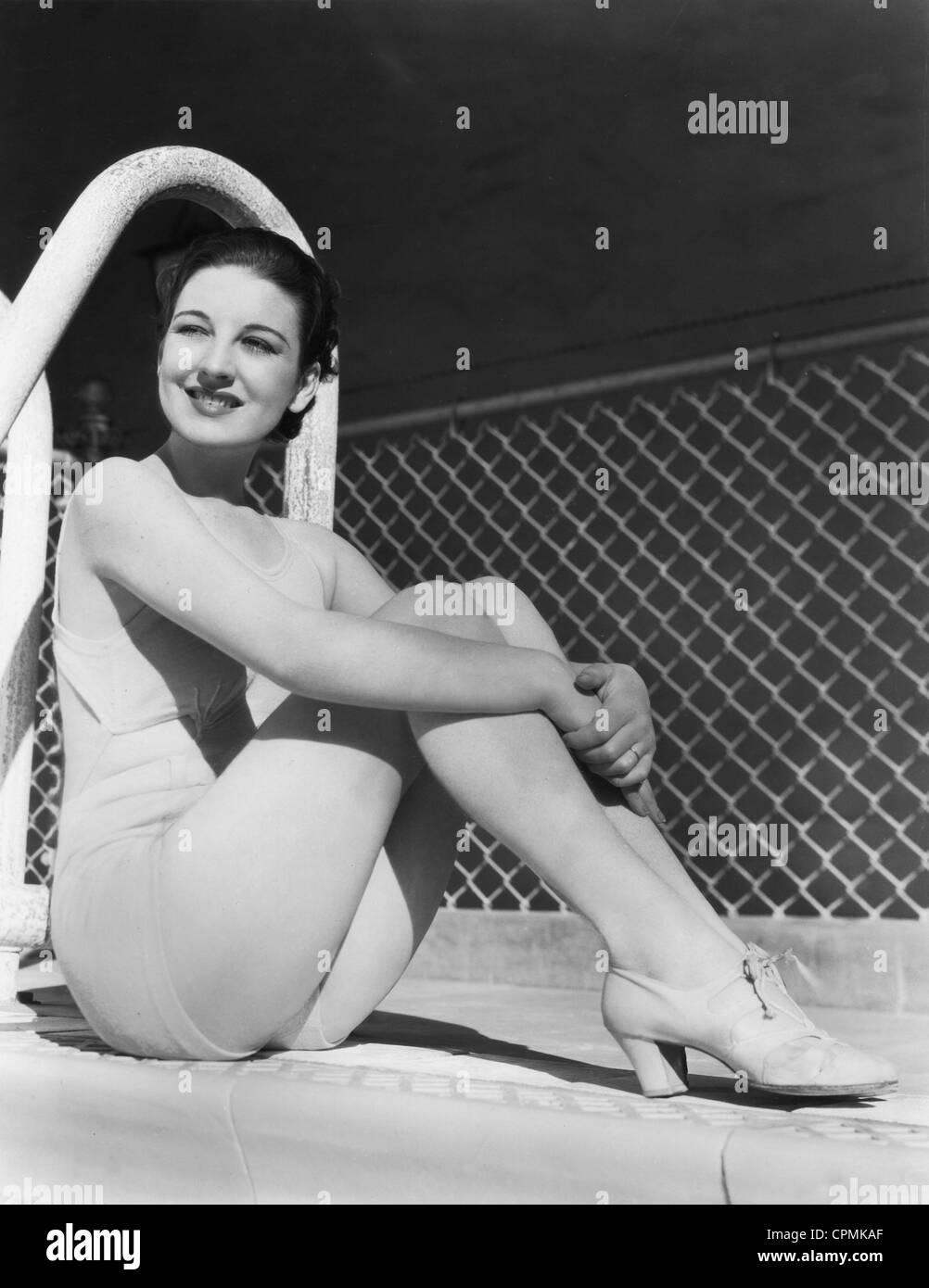 Phyllis Barry, 1935 - Stock Image