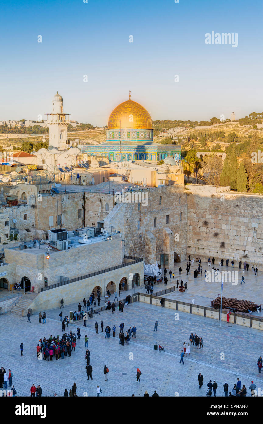 Middle East, Israel, Jerusalem, Old City, Jewish Quarter of the Western Wall Plaza - Stock Image