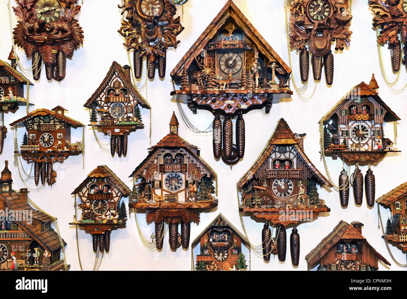 clock cuckoo clock Black Forest cuckoo clocks hanging on the wall