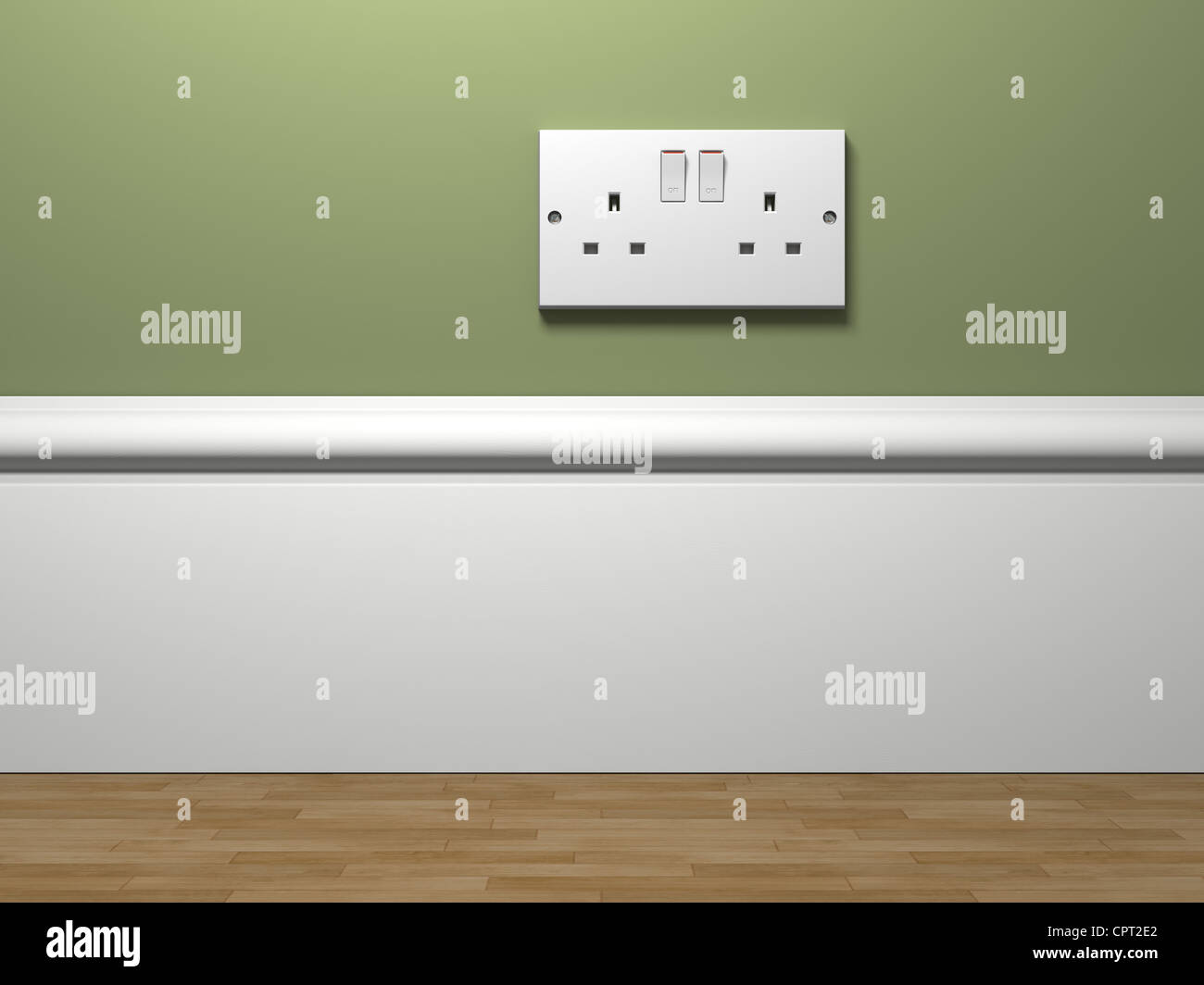 photorealistic 3d image of a common household power socket in the ...