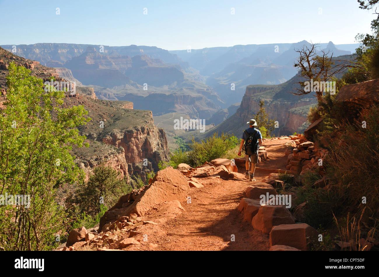 Bright Angel trail, Grand Canyon, Arizona, USA Stock Photo