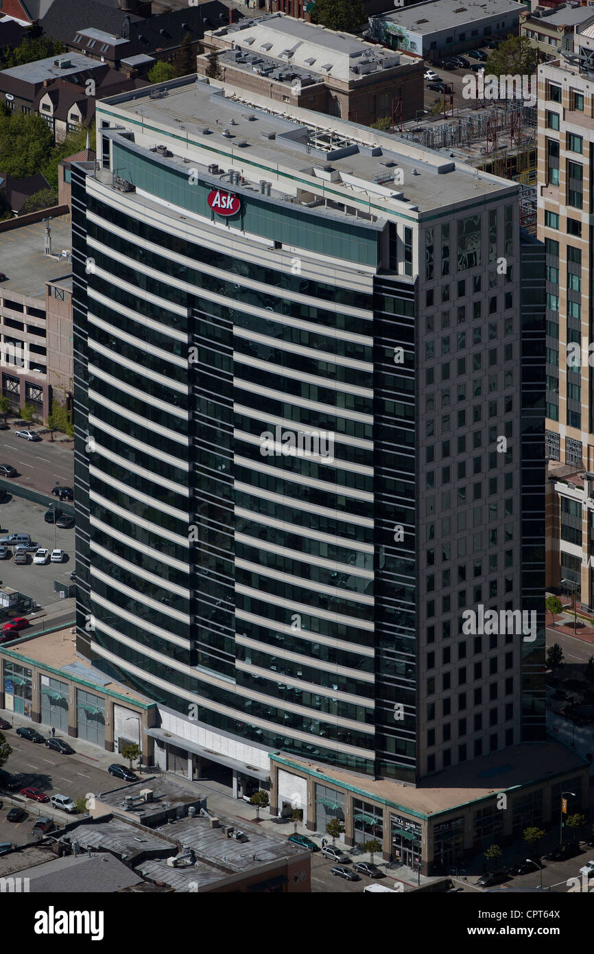 aerial photograph Ask.com headquarters Oakland, California - Stock Image