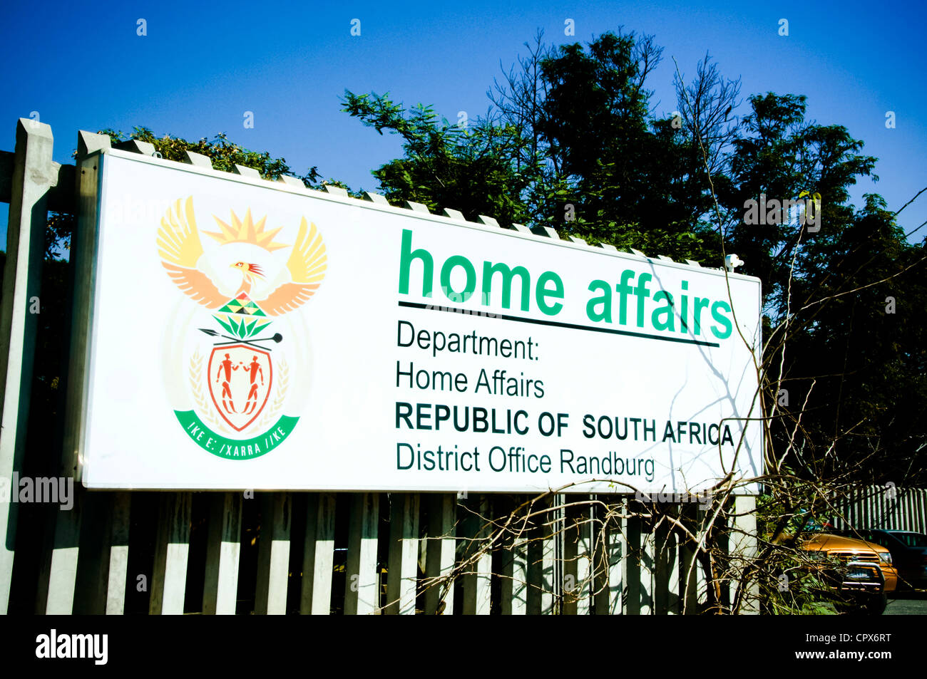 Sign for the Department of Home Affairs - Stock Image