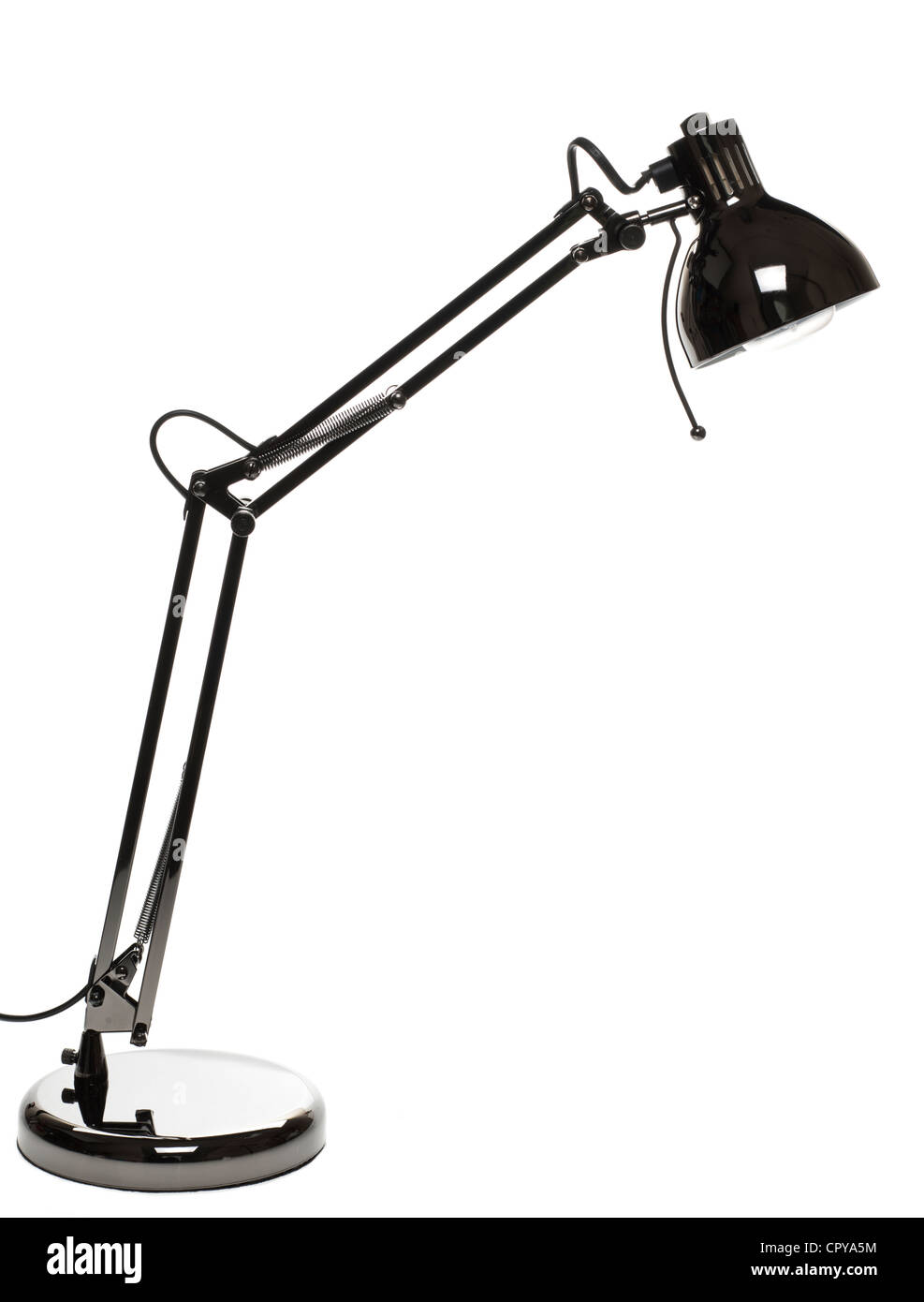 Metal Anglepoise lamp - Stock Image