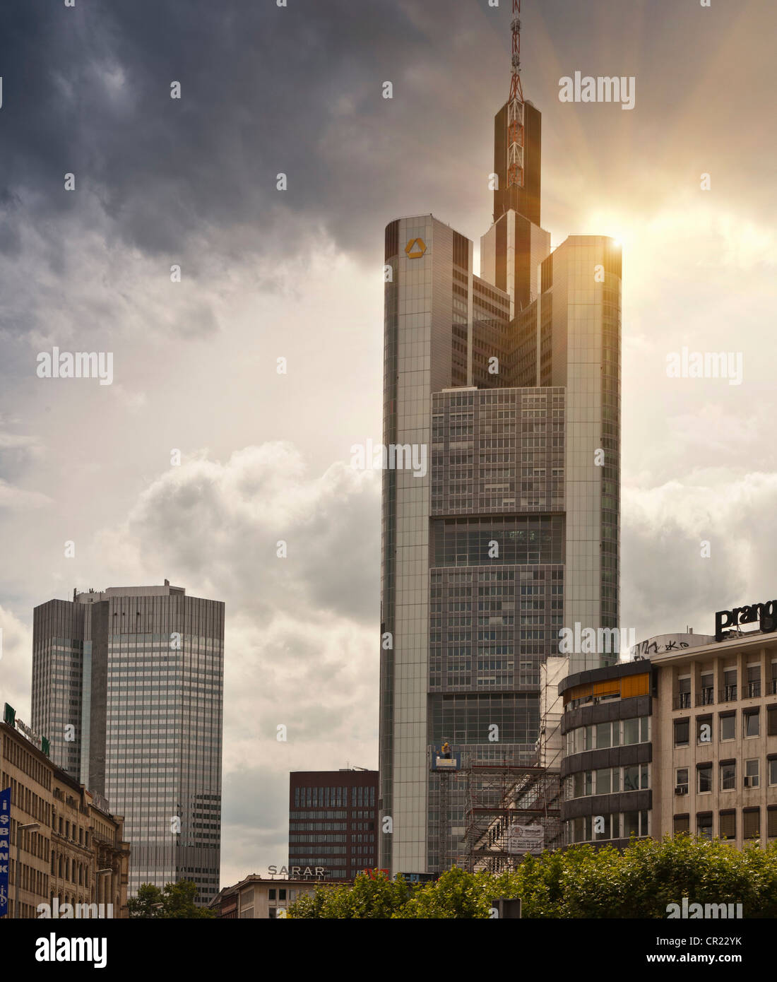 Skyscrapers in city center - Stock Image