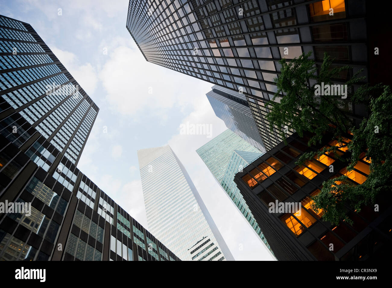 High-rise buildings, Park Avenue, Manhattan, New York, USA, America - Stock Image