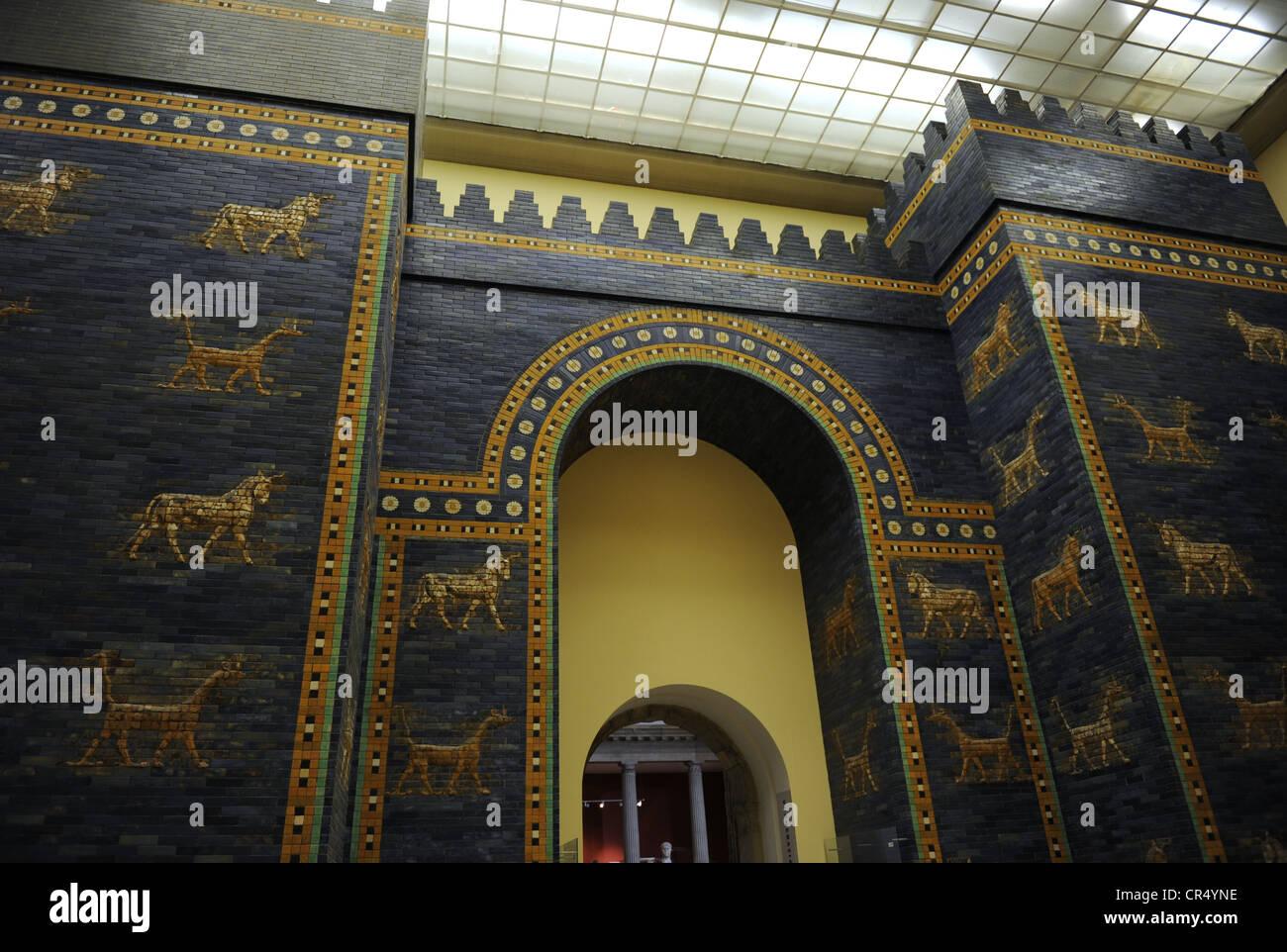 mesopotamian art neo babylonian ishtar gate pergamon museum stock