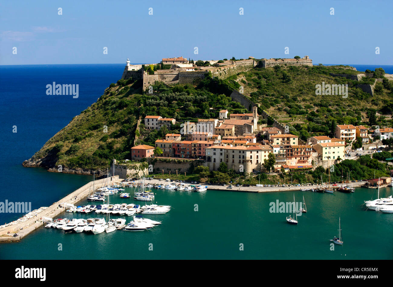 Italy, Tuscany, La Maremma, Monte Argentario, Porto Ercole Stock Photo