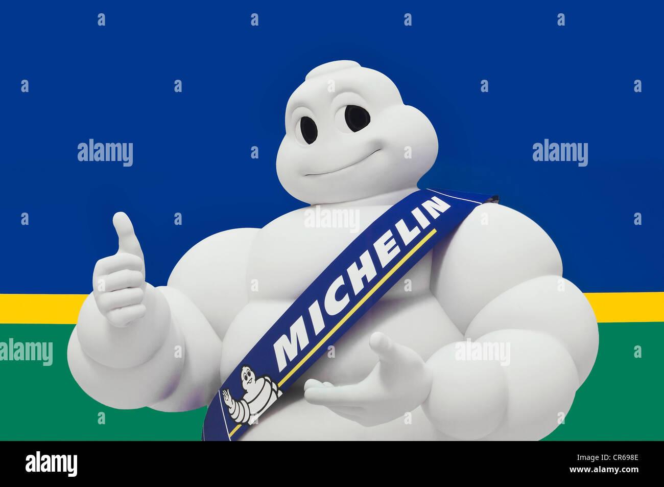 Michelin Man or Bibendum, advertising symbol of the Michelin tyre company Stock Photo