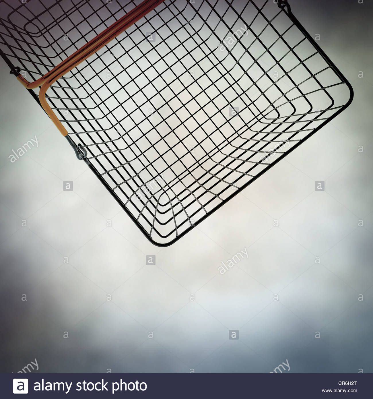 wire basket - Stock Image
