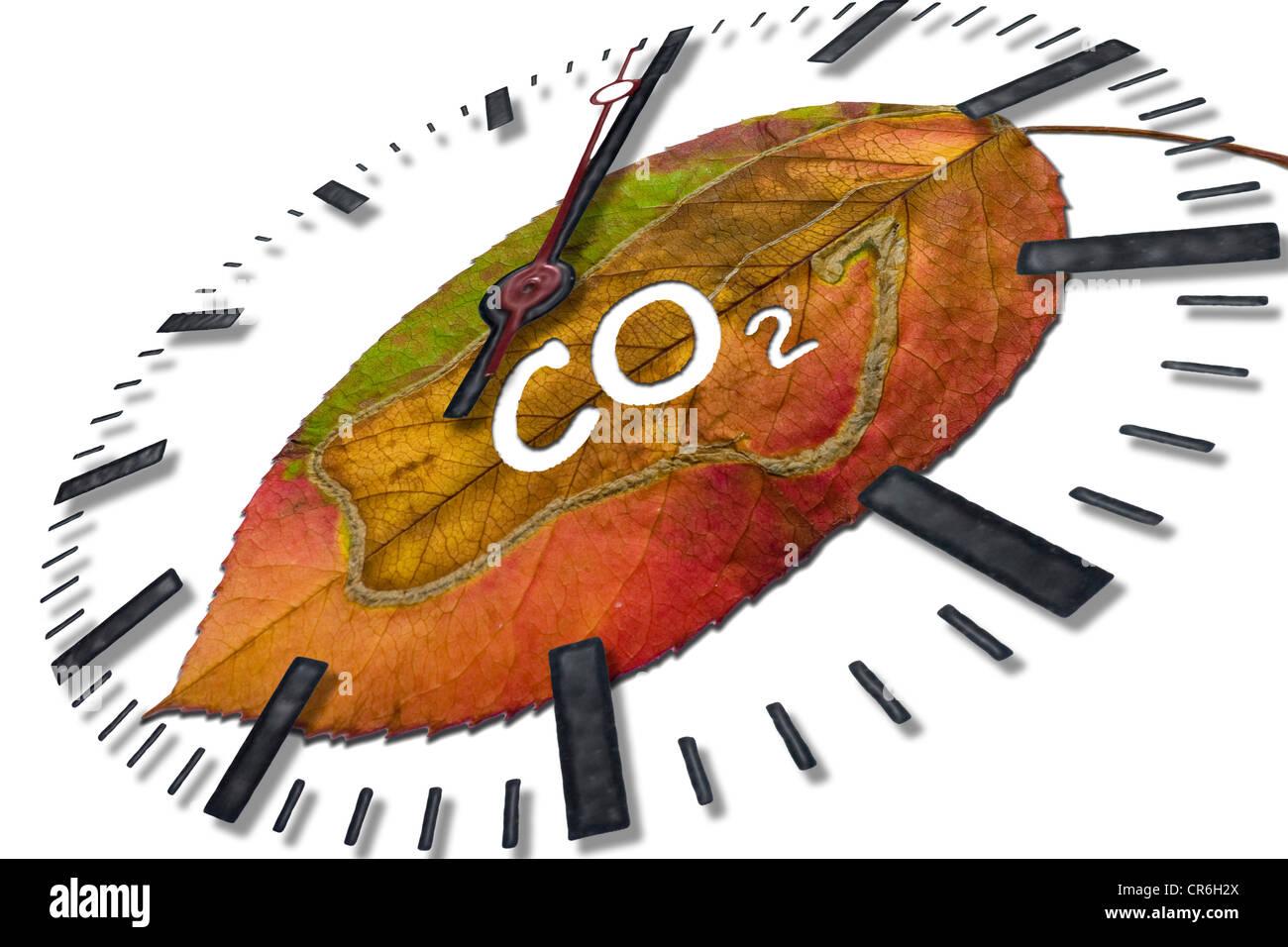 carbon dioxide - Stock Image