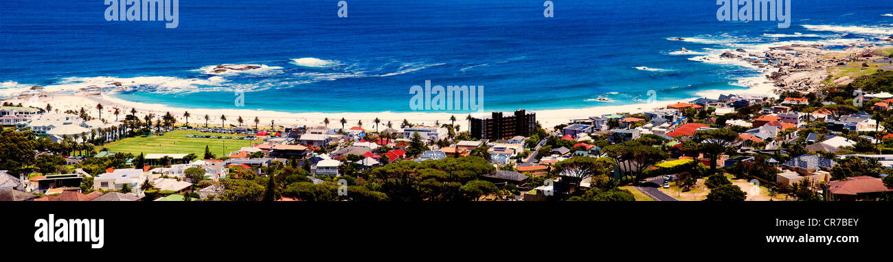 Camps bay beach, Cape Town, South Africa - Stock Image