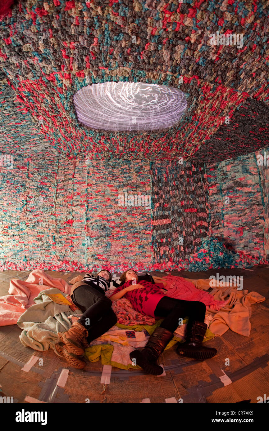 Canada, Quebec, Montreal, museum of contemporary art, MAC, exhibition by Tricia Middleton - Stock Image