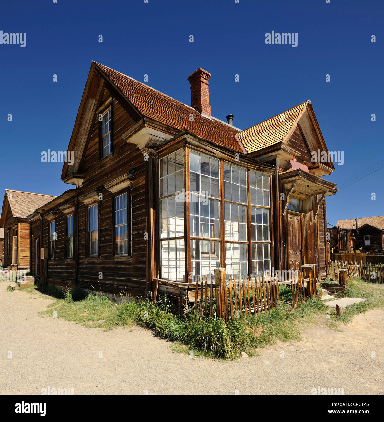 Residence of James Stuart Cain, a wealthy citizen from the ghost town of Bodie, a former gold mining town - Stock Image