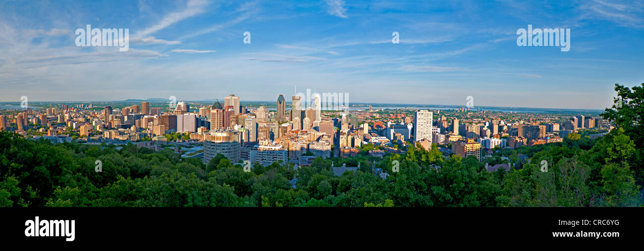 Canada,Quebec, panoramic view of Montreal, downtown in summer - Stock Image