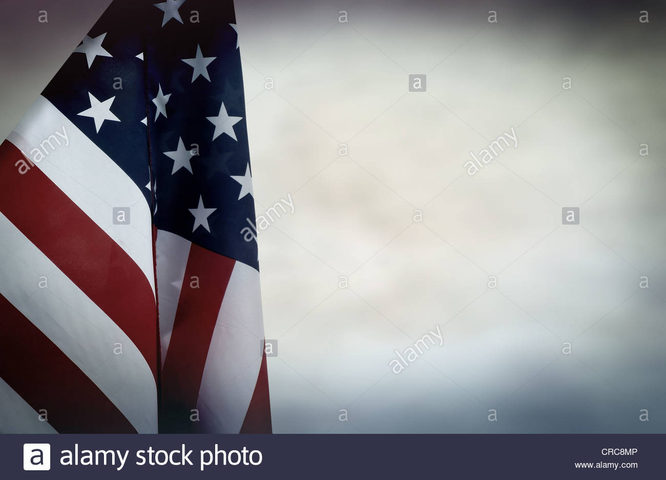 US flag backdrop - Stock Image